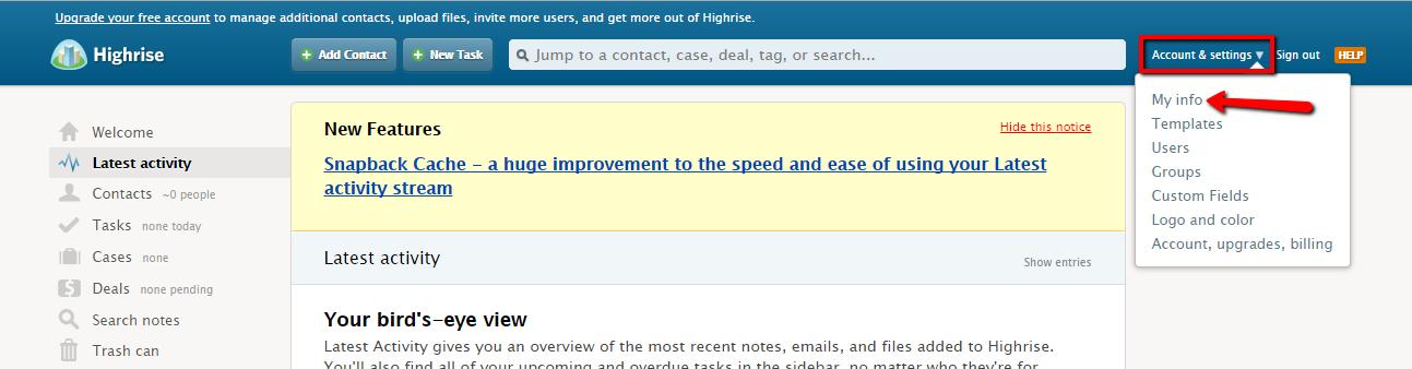 highrise-API-token-1-screenshot