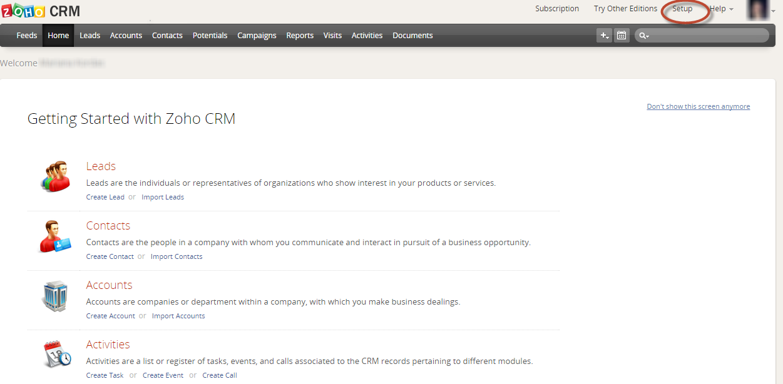 Data2CRM Zoho API Request Usage