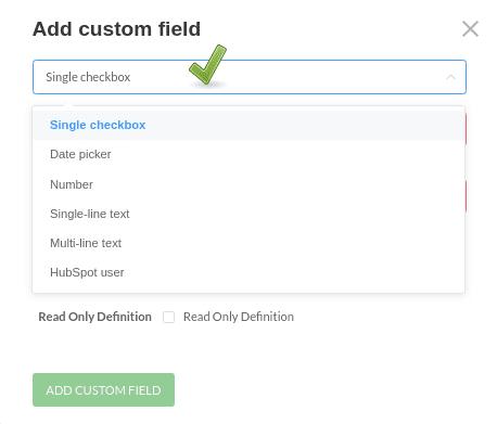 create custom data fields