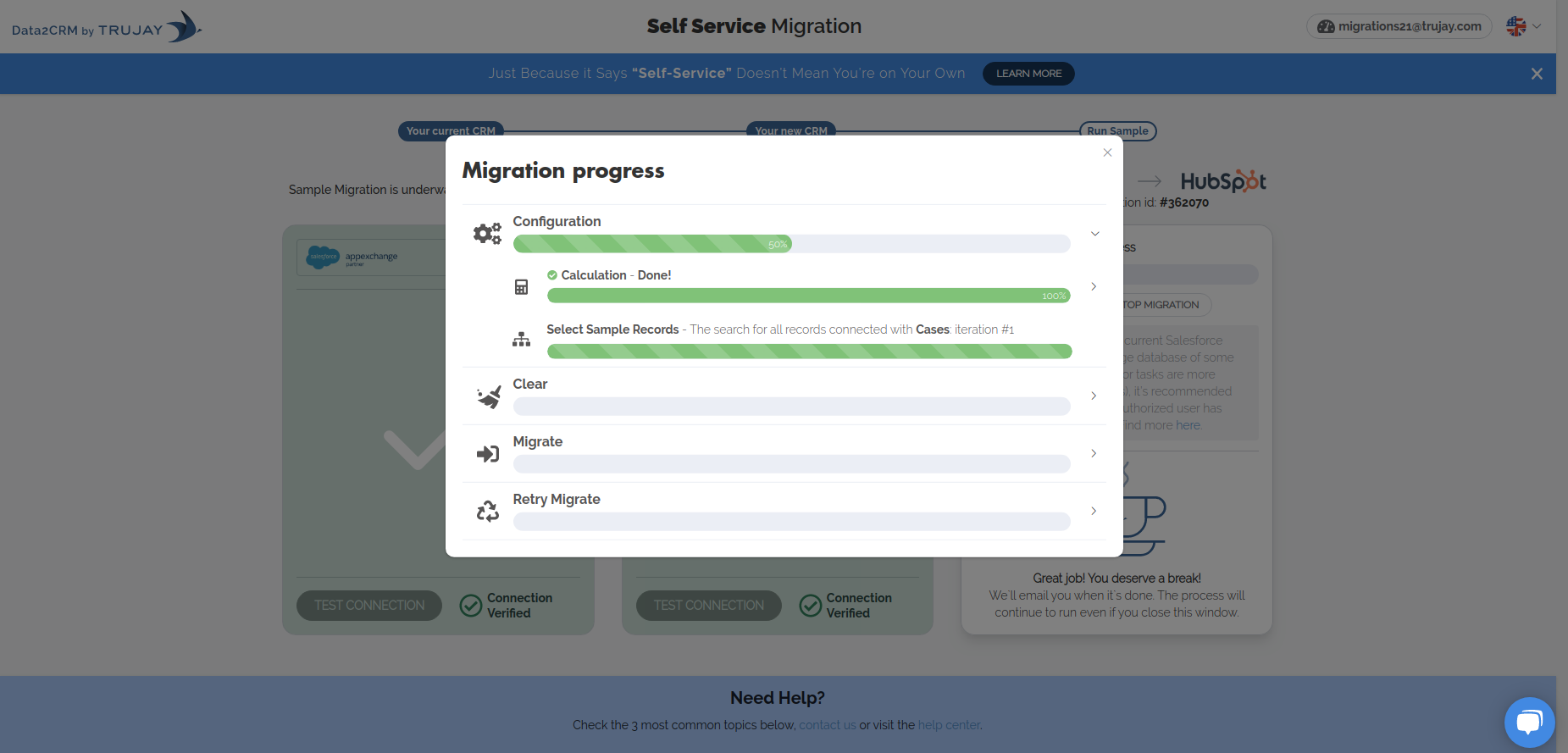 Try a Free Sample Migration