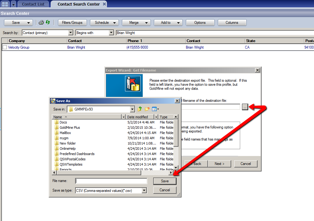 [Migration from GoldMine] Contacs Data Folder